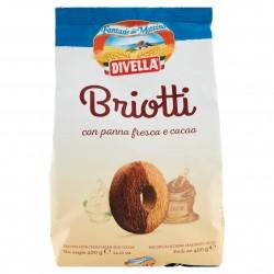 BISC.DIVELLA BRIOTTI CACAO E PANNA GR.400