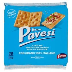 BISC.CRACKER GRAN PAVESI NON SALATI GR.560