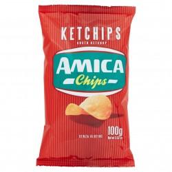 PATATINE AMICA CHIPS KETCHIPS GR.100 CD1827