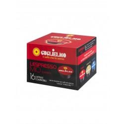 CAPSULE CAFFE C/A MODO MIO GUGLIELMO ROSSO PZ. 16