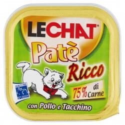 P/GATTO MONGE LECHAT PATE' POLLO/TACCHINO GR.100