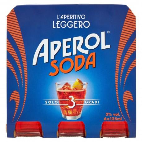 BEVERAGE APEROL SODA FAM. ML.125X6