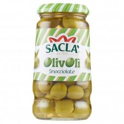 OLIVE VERDI SNOCCIOL. OLIVOLI SACLA' VETRO GR.290