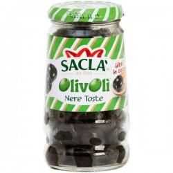 OLIVE NERE TOSTE OLIVOLI SACLA' VETRO GR.290