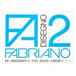 CANCELLERIA BLOCCO DISEGNO F2 24X33 F.20 RIQUAD. F