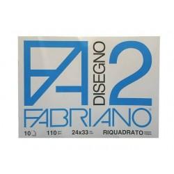 CANCELLERIA ALBUM DISEGNO RIQUADRATO F2 24X33 F.10