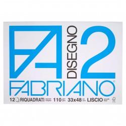 CANCELLERIA BLOCCO DISEGNO F2 33X48 RIQUAD. FABRIA