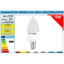 ELET.LAMPADINA LED E14 4W CANDELA 400K